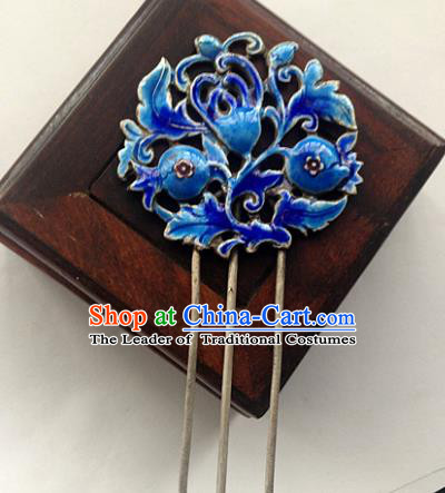 Chinese Traditional Ancient Blueing Hairpins Hair Accessories Hair Clip for Women