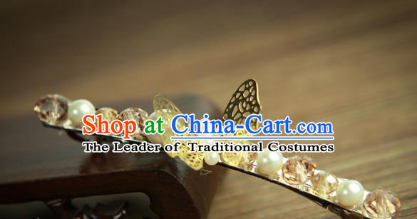 Chinese Traditional Hair Accessories Ancient Hanfu Butterfly Hair Claw Hairpin for Women
