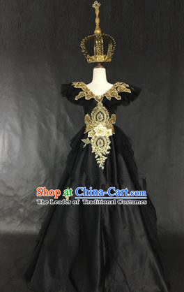 Top Grade Models Show Costume Cosplay Queen Palace Full Dress Stage Performance Compere Clothing for Women