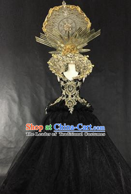 Top Grade Models Show Palace Costume Cosplay Queen Full Dress Stage Performance Compere Clothing for Women