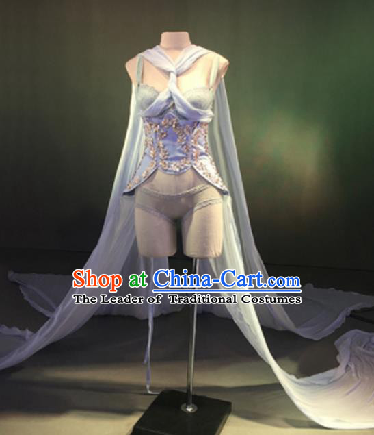 Top Grade Models Show Costume Cosplay Full Dress Stage Performance Compere Clothing for Women