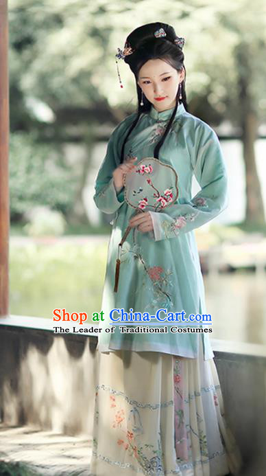 Chinese Ancient Ming Dynasty Nobility Lady Hanfu Dress Princess Embroidered Costumes Complete Set for Women
