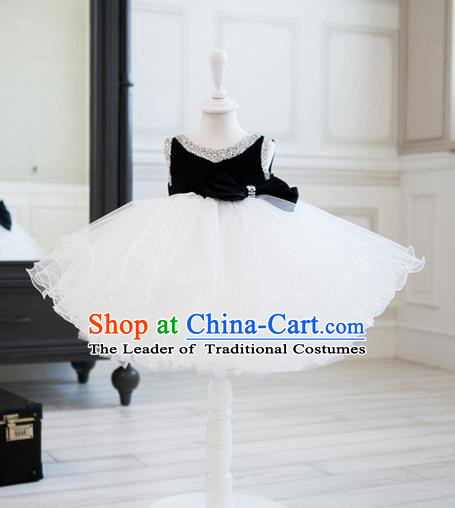 Top Grade Children Compere Catwalks Costume Modern Dance Stage Performance Dress for Kids