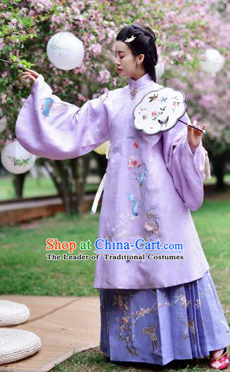 Chinese Ming Dynasty Princess Embroidered Costume Ancient Nobility Lady Hanfu Dress for Women