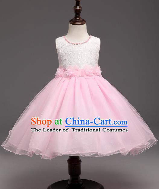 Children Flower Fairy Costume Modern Dance Stage Performance Catwalks Compere Dress for Kids