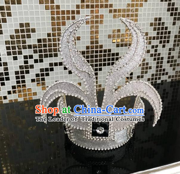 Top Grade Halloween Hair Accessories Brazilian Carnival Samba Dance Crystal Headwear for Kids