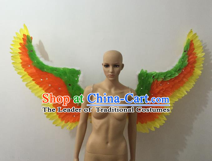 Custom-made Catwalks Props Brazilian Rio Carnival Samba Dance Feather Wings for Women