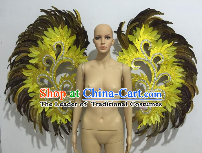 Brazilian Rio Carnival Samba Dance Props Catwalks Feather Wings for Adults
