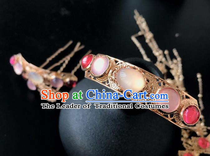 Chinese Traditional Hair Accessories Ancient Tassel Hair Comb Hairpins for Women