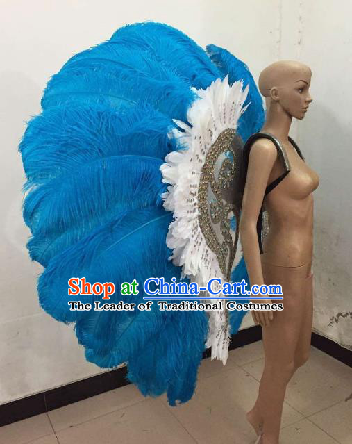 Top Grade Stage Performance Brazilian Carnival Feather Wings Miami Feathers Deluxe Wings Headwear Mask for Women