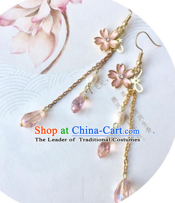Handmade Chinese Traditional Accessories Tassel Earrings for Women