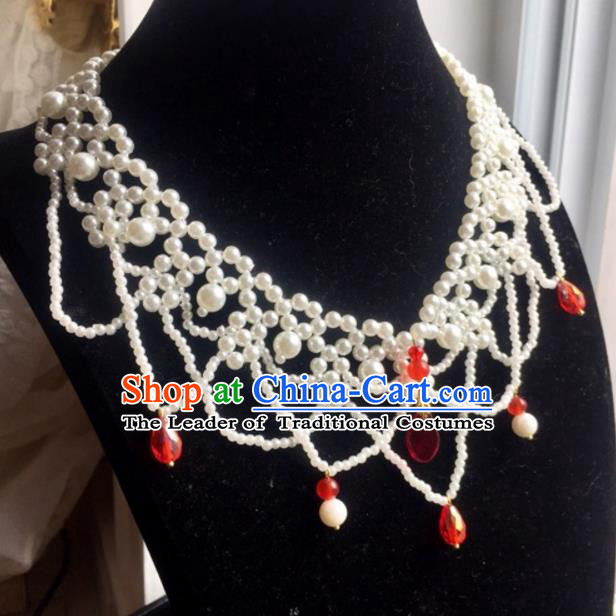 Handmade Chinese Traditional Accessories Hanfu Necklace for Women