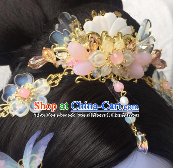 Chinese Traditional Hair Accessories Ancient Hanfu Hairpins Shell Hair Crown for Women