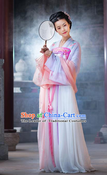 Traditional Chinese Tang Dynasty Princess Hanfu Dress Ancient Peri Embroidered Costumes for Women