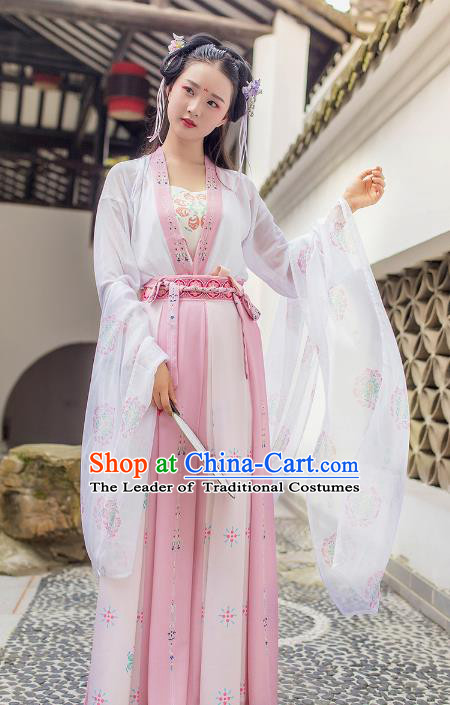 Traditional Chinese Ancient Palace Lady Hanfu Dress Song Dynasty Princess Costumes for Women