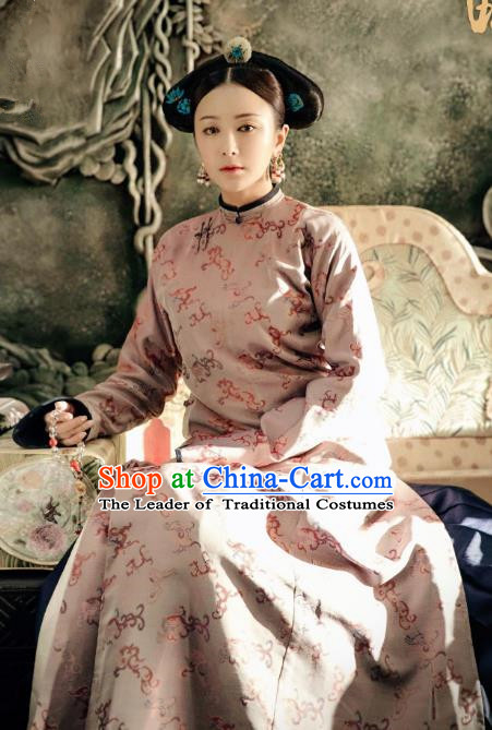 Story of Yanxi Palace Traditional Chinese Qing Dynasty Palace Lady Costume Asian China Ancient Manchu Embroidered Clothing