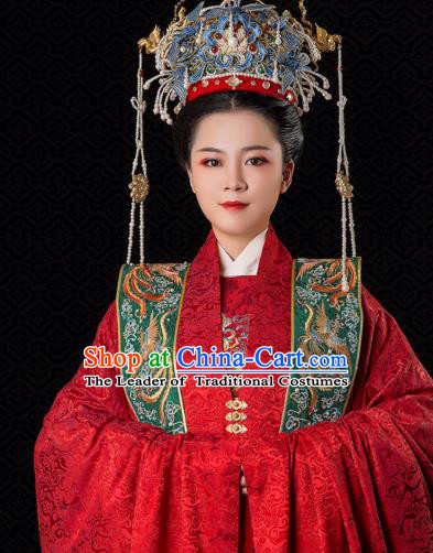 Chinese Traditional Phoenix Coronet Hair Accessories Ancient Ming Dynasty Empress Headwear for Women