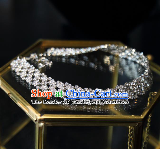 Top Grade Wedding Jewelry Accessories Bride Zircon Necklace for Women