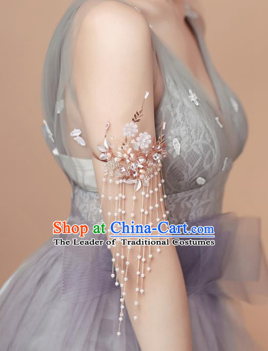 Top Grade Handmade Wedding Jewelry Accessories Bride Tassel Armlet Arm Chain for Women