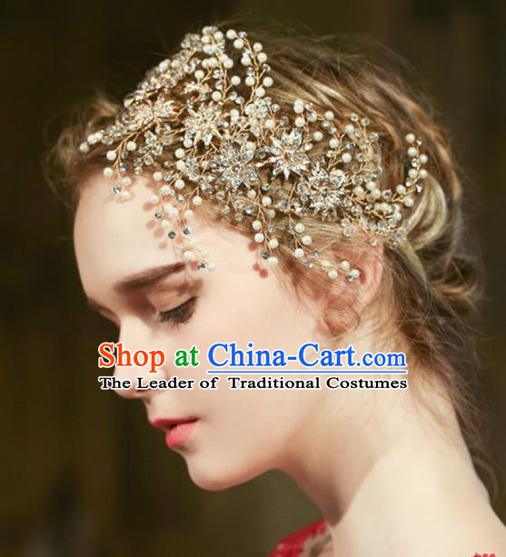 Top Grade Wedding Hair Accessories Bride Crystal Hair Clasp for Women
