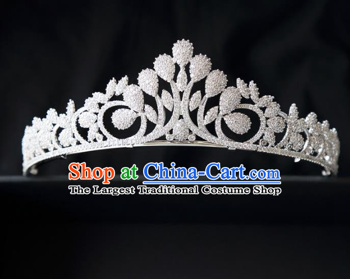 Top Grade Wedding Baroque Bride Hair Accessories Princess Zircon Royal Crown for Women