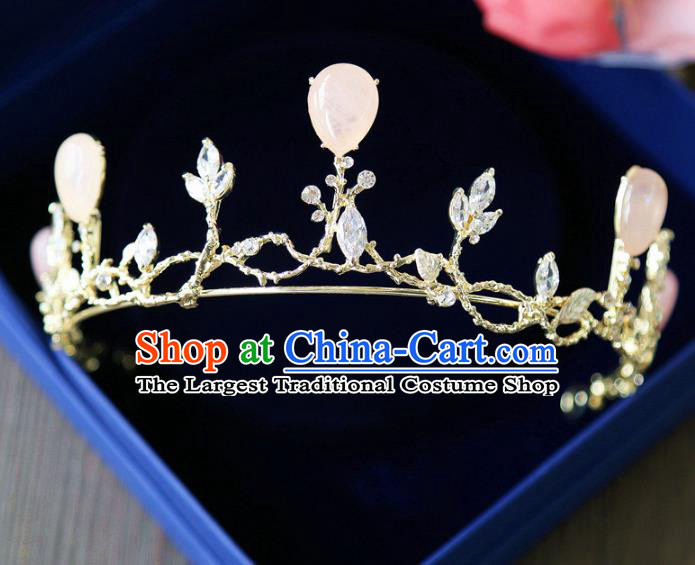 Top Grade Wedding Bride Hair Accessories Princess Hair Clasp Golden Royal Crown for Women