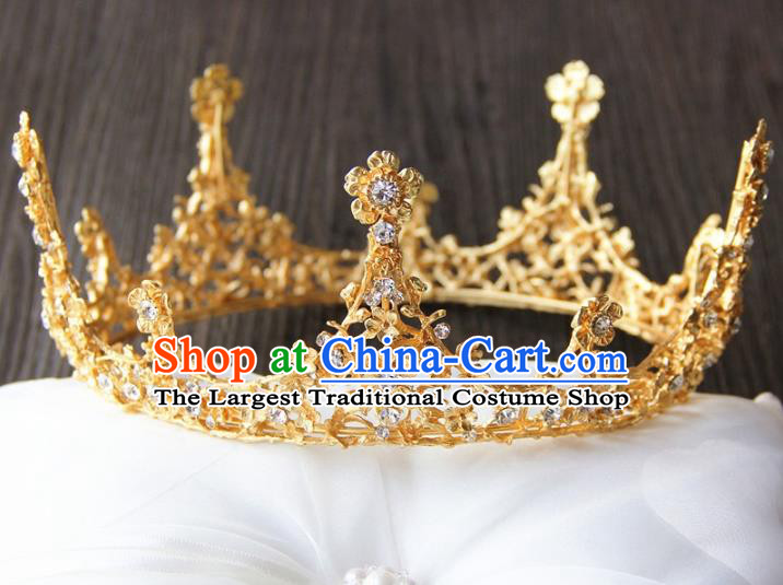 Top Grade Wedding Bride Hair Accessories Baroque Queen Royal Crown for Women