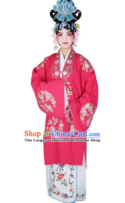 Professional Chinese Traditional Beijing Opera Diva Embroidered Plum Blossom Costumes for Adults