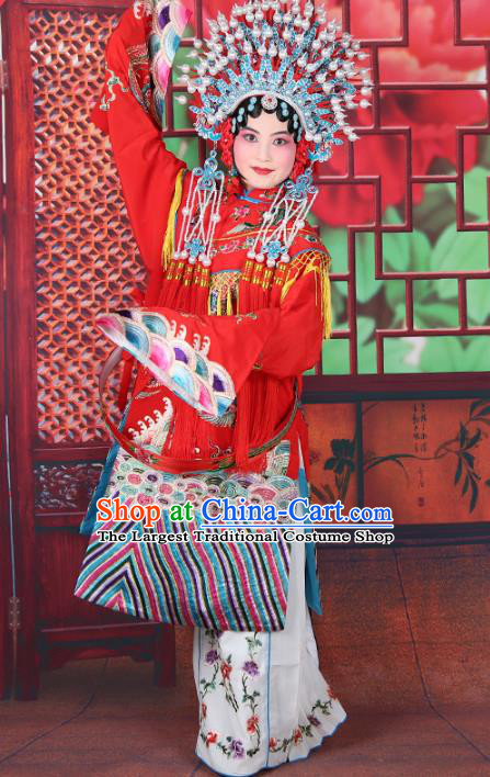 Professional Chinese Beijing Opera Imperial Consort Costumes Ancient Huangmei Opera Actress Clothing and Phoenix Coronet for Adults