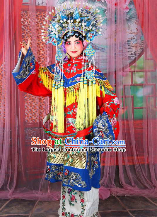 Professional Chinese Traditional Beijing Opera Imperial Consort Costumes and Phoenix Coronet for Adults