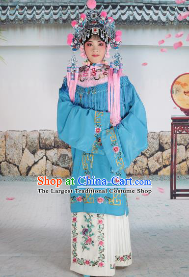 Professional Chinese Beijing Opera Diva Embroidered Costumes Pink Shawl Clothing and Headwear for Adults