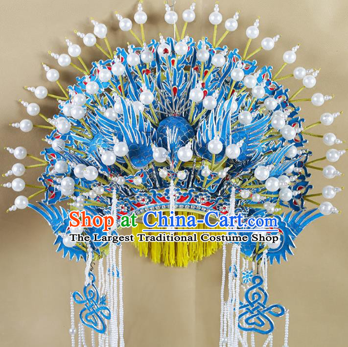 Top Grade Chinese Beijing Opera Hair Accessories Peking Opera Imperial Consort Phoenix Coronet Headwear for Women