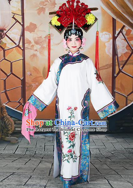 Professional Chinese Beijing Opera Qing Dynasty Imperial Concubine Costume and Headwear for Adults