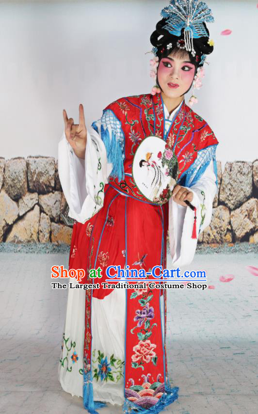 Professional Chinese Beijing Opera Diva Costumes Peking Opera Red Dress for Adults