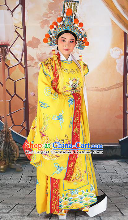 Professional Chinese Peking Opera Emperor Costume and Hat for Adults