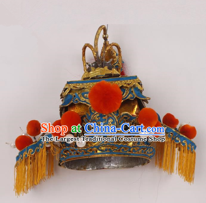 Top Grade Chinese Beijing Opera Royal Highness Headwear Peking Opera General Hat for Men