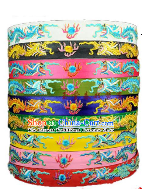 Top Grade Chinese Beijing Opera Belts Peking Opera Dragon Waistband for Men