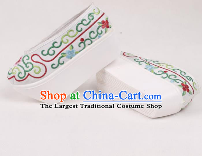 Chinese Traditional Beijing Opera Embroidered Shoes Peking Opera Niche Cloth Shoes for Men