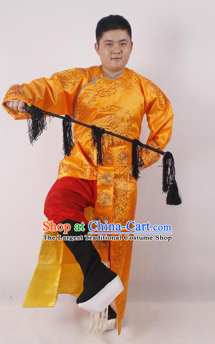 Professional Chinese Peking Opera Takefu Golden Embroidered Costume for Adults