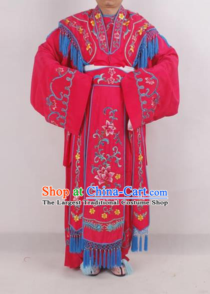 Professional Chinese Peking Opera Diva Costumes Ancient Fairy Embroidered Rosy Dress for Adults