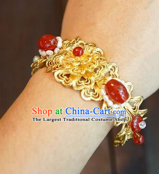 Chinese Handmade Bracelet Ancient Bride Agate Bangle Jewelry Accessories for Women