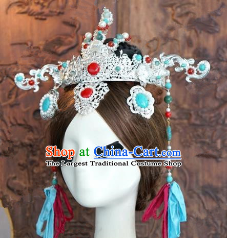 Chinese Traditional Ancient Palace Lady Phoenix Coronet Queen Headdress for Women