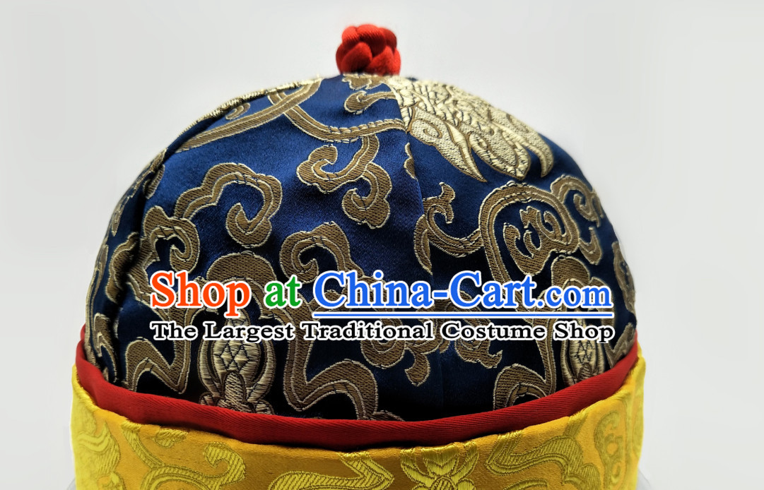 Chinese Traditional Handmade Silk Brocade Princess Hat for Men