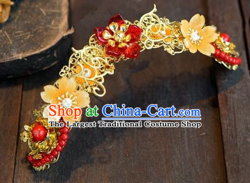 Chinese Handmade Ancient Hair Accessories Ancient Hanfu Hair Coronet Hairpins for Women