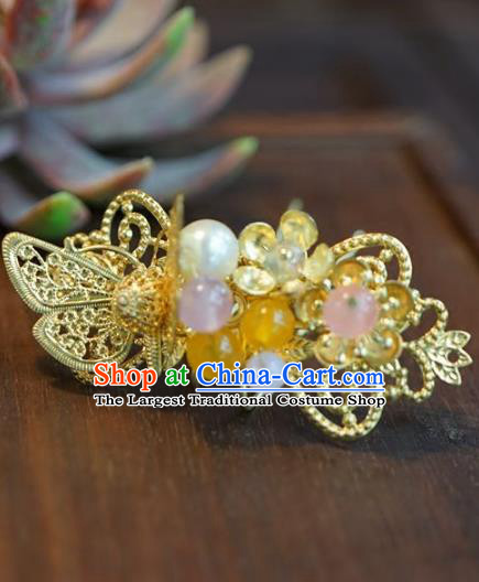 Chinese Handmade Ancient Hair Accessories Ancient Hanfu Butterfly Hairpins for Women