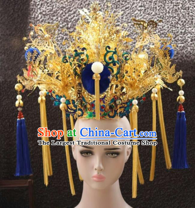 Chinese Ancient Handmade Qing Dynasty Manchu Princess Phoenix Coronet Hairpins Hair Accessories for Women