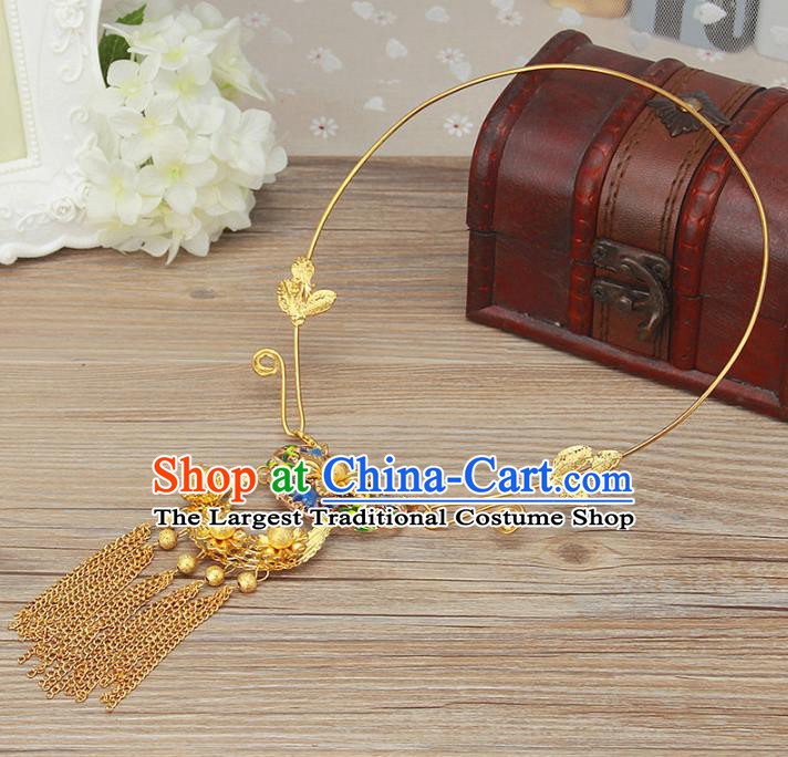 Top Grade Chinese Handmade Jewelry Accessories Bride Hanfu Necklace for Women