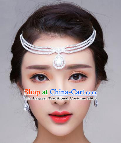 Handmade Baroque Bride Crystal Hair Clasp Royal Crown Wedding Hair Jewelry Accessories for Women