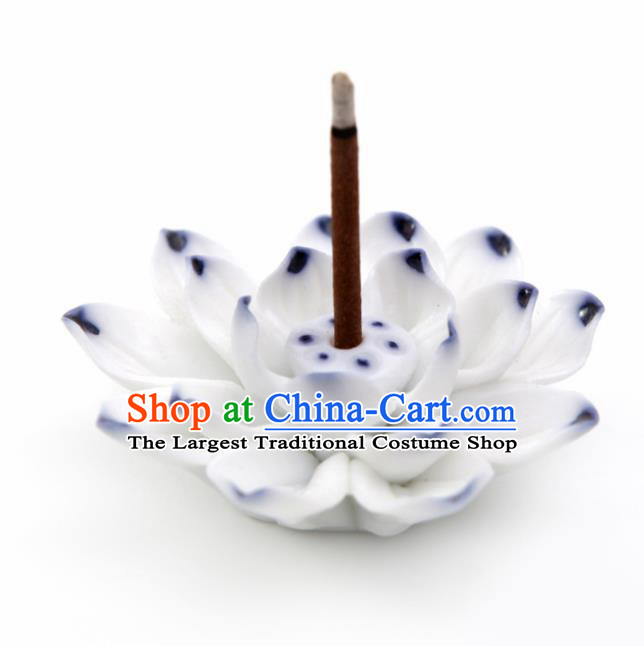Chinese Traditional Artware Ceramics Lotus Censer