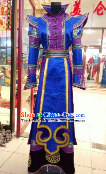 Chinese Traditional Mongolian Wedding Costume China Mongol Nationality Folk Dance Dress for Women